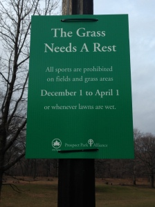 We need a reminder that grass needs to rest in Brooklyn's Prospect Park