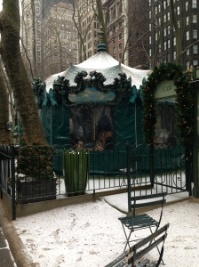 Even the Bryant Park Carousel takes a rest!