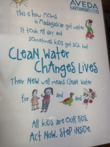 Aveda's annual water campaign provides awareness and clean drinking water!