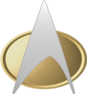 "Time to ""phaser-out"" problems!  http://en.memory-alpha.org/wiki/Starfleet_insignia"